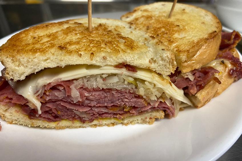 Meat cheesy sandwich